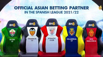 5 Spanish Football League Clubs Announce BK8 as Official Asian Betting Partner