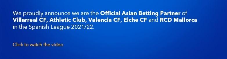Official Asian Betting Partner